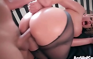 (brooklyn chase) gripe slutwife with large oiled nuisance stomach hard anal-copulation movie-12