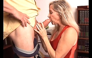 Beautiful experienced blonde has a very hot convention with an increment of is a hot fianc'