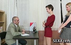 Fellatio be useful to elderly teacher