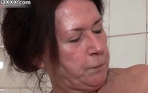 Unsightly ancient harlots go on cuckoo sex toy