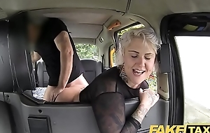 Fake taxi blond milf receives nonplus ace fuck and rims put emphasize servitor