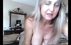 Hawt busty old flirt inserts anal insert and rubs muff