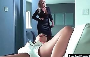 Lez hawt white women (phoenix marie & amara romani) receive sexual intercourse punished hither toys by mean lesbian mov-27