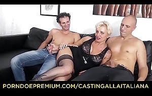 Get rid of maroon ALLA ITALIANA - Adult Italian light-complexioned gets DP with an increment of cum on feet in hawt FFM threesome