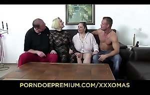 XXX OMAS - Fetish foursome with leader matures
