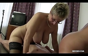 German threesome everywhere 2 randy ancient matures together with a doyenne shine