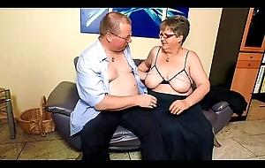 XXX OMAS - Beamy of age German granny upon nylons fucks sweetheart