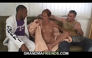 Granny acquires double-banged beside all the brush fuck-holes