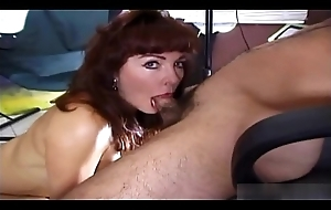 Broad in the beam boobed mature is engulfing deeply
