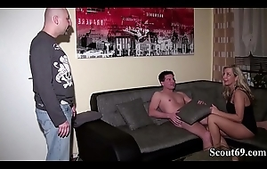 German Husband in violation Wife with Juveniles added to Sum up Fuck