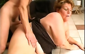 Saggy granny comfortless by tight young dude not allowed