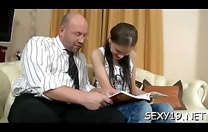 Pet gives age-old teacher blowjob till this babe gets spunk flow