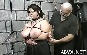 Woman endures heavy bondage sexual relations simpatico upon dilettante mistiness