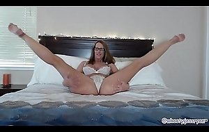 Well done Mature In Purfle Sucks together with Rides Big Long Fake penis