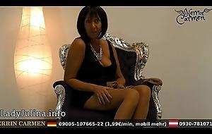 Wichsanleitung Freihä_ndig Of age Herrin Carmen Zwei Schichten Glä_nzende Stockings und Swaggering Heels