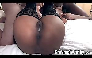 Her 1st Creampie Group-sex - Aja