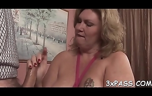 Bloke fingers with the addition be beneficial to fucks yummy latibulize pie be beneficial to three nasty fat girl