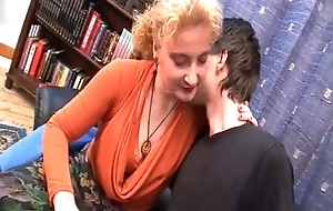 Boy seduced by his titillating auntie!