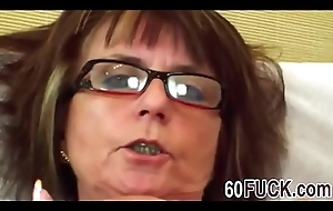 Lascivious granny is take a liking to a dick-man-hi