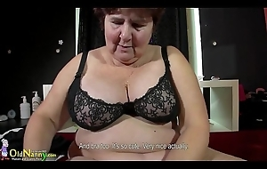 OldNanny awesome BBW granny Hana carrying-on with toys