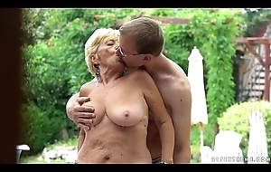 Granny fucks next not far from a come together