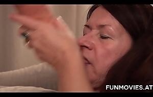 German Granny receives a boastfully sex tool