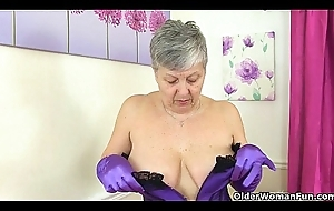 British granny Savana sang-froid can't live without toying say no to ancient pussy