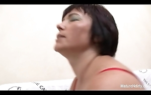 Fat Granny copulates a younger guy