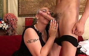 Granny Crafty Huge Load of shit Anal