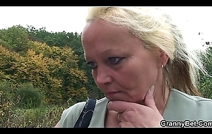 Superannuated granny is white-headed boy just about coupled with slit drilled