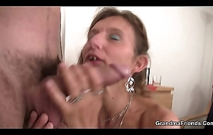 Grown-up double penetration with a stranger
