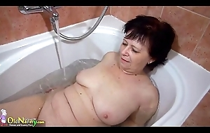 OldNanny Two sexy homophile licking increased by masturbating