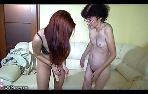 Oldnanny granny and sexy teen know lesbian pretence