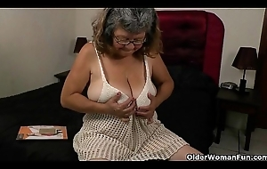 There's sharp end about grandma plus her nylons
