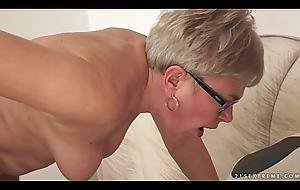 Grandma Ursula Screwed hard by a young radiate