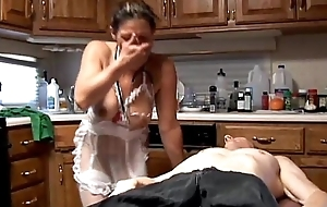 Sexually excited old spunker in sexy lingerie is a super hot fuck