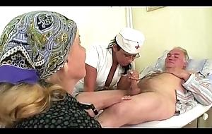 Older man fucks heedfulness after a long time grandma masturbates