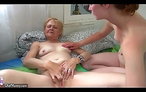 OldNanny Fat mature engulfing and put to rout