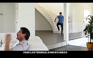 FamilyStrokes - Low-spirited Slutwife Copulates Stepson