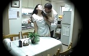 Subtitled Japanese homestay gone wrong congregation mom oral-job