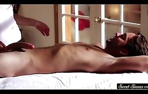 MILF masseuse cockriding her consumer