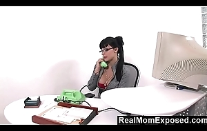 RealMomExposed - Horny secretary can't live without a mess her ass