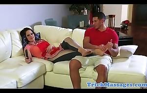 Ban massaged stepmom drilled hard by stepson