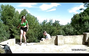 MyFirstPublic Take charge horny stepmom performance with regard to stepson secrets be fitting of sexual relations alfresco