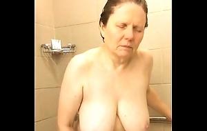 60 Broad in the beam Bowels Mom Shower Masturbation - Easy @ www.WebCummers.com