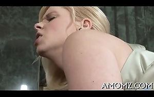 Adult sweetheart sucks coupled with swallows
