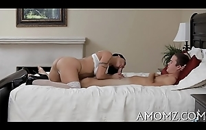 White-hot sexy mammy craves for orgasm