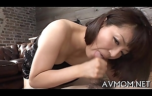 2 large cocks coupled with a crestfallen asian