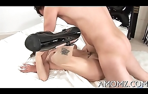 Sultry mom screwed wide of a sexy chap